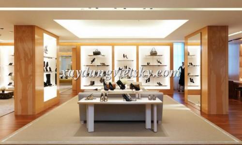 Thiết kế, xây dựng & cải tạo Showroom giày dép