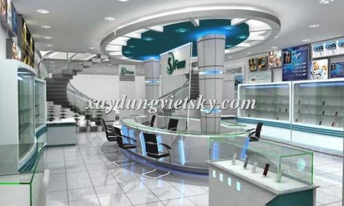 Thiết kế, xây dựng & cải tạo Showroom điện thoại