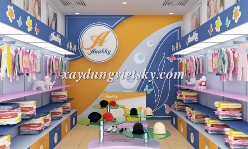 Thiết kế, xây dựng & cải tạo Showroom thời trang trẻ em