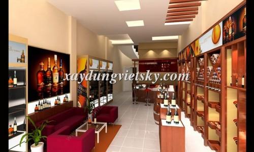 Thiết kế, xây dựng & cải tạo Showroom rượu nhập ngoại