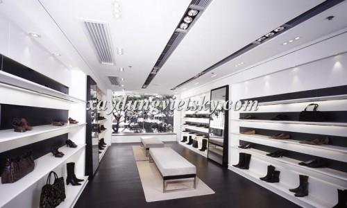 Thiết kế, xây dựng & cải tạo Showroom giày & túi xách tay