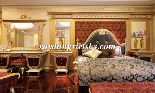 Thi công Phào trang trí đem đến vẻ đẹp hoàng gia lộng lẫy cho phòng ngủ