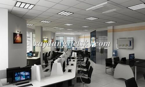 Thiết kế văn phòng Cty HiTech, Đống Đa