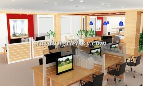 Thiết kế văn phòng Cty Cây Cảnh Hà Nội, Ba Đình
