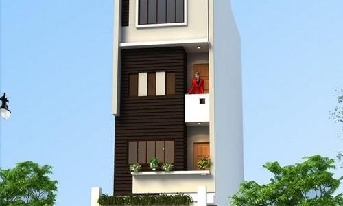 Bố trí nhà 5 tầng diện tích 37 m2