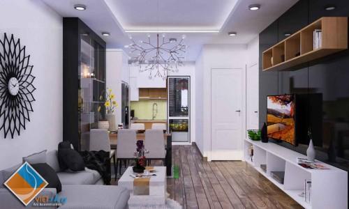 Thiết kế nội thất chung cư, xây dựng và cải tạo chung cư Đại Kim ấn tượng và ấm cúng.