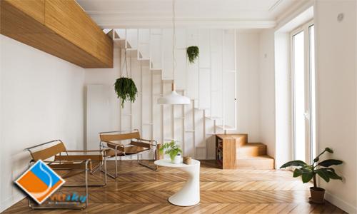 Thiết kế nội thất chung cư, xây dựng và cải tạo chung cư Nam Đô nhẹ nhàng, mềm mại với trần vách thạch cao đẹp lạ.